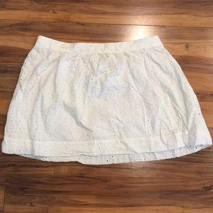 Gap - 100% Cotton White Eyelet Skirt